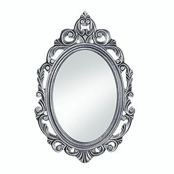 Amazoncom Wall Decor Mirror Antique Unique Wall Mirrors Silver