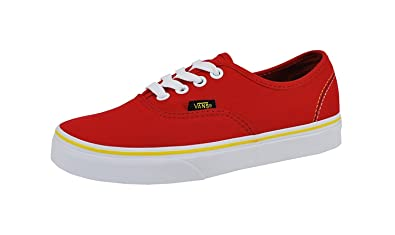 122273ac3414 VANS Authentic Unisex Shoes Solstice 2016 Red  Black  Gold Fashion Sneakers  (4 Men