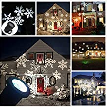 Christmas Laser Light, Snowflake Led Spotlight Landscape Projector, Outdoor Xmas Landscape Decor Moving Lamp LED Christmas Waterproof Lights Perfect for Garden Lawn- Halloween Decoration
