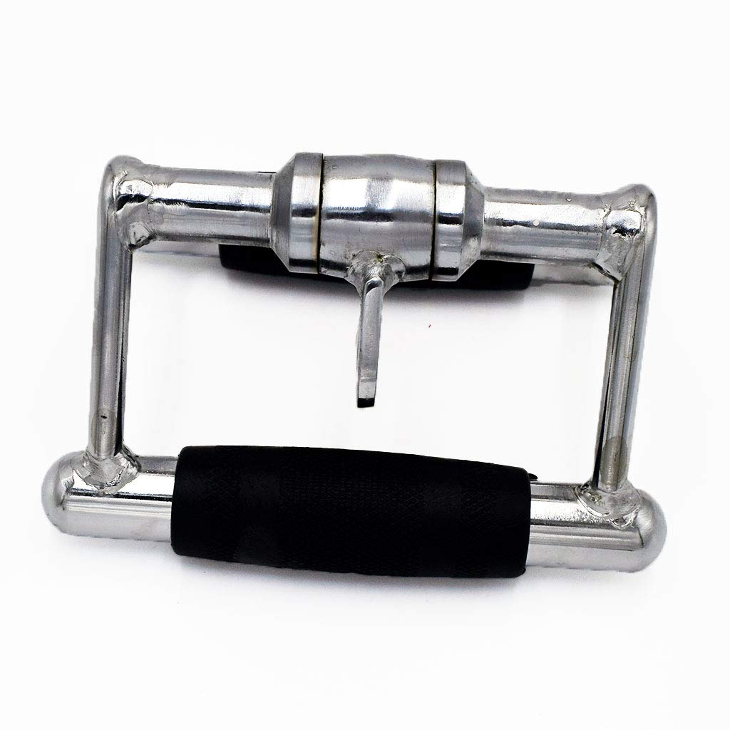 E2shop LAT Pull Down Bar Strength Training Deluxe Double D Handle Tricep V Shaped Press Down Bar