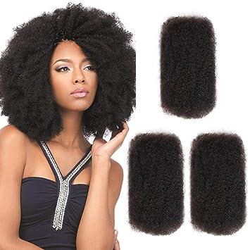 Amazon Com Style Icon 3 Bundles Afro Kinkys Bulk Human Hair 10 10 10 Natural Black Afro Twist Braiding Hair Curly Hair Extensions Human Hair Afro Bulk Braiding Hair For Dreadlocks