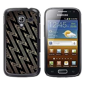 Qstar Arte & diseño plástico duro Fundas Cover Cubre Hard Case Cover para Samsung Galaxy Ace 2 I8160 / Ace2 II XS7560M ( Wallpaper Zig Zag Geometrical Pattern Art)
