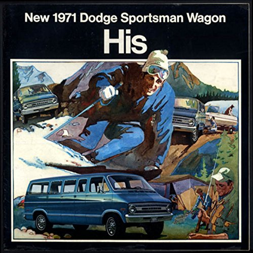 - 1971 Dodge Sportsman Wagon for Him & Her dos-a-dos brochure