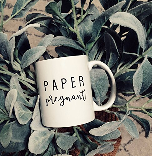 Paper Pregnant, Coffee Mug, Ceramic Mug, Pregnant Mug, Pregnancy Mug, Coffee Mug For Women, Pregnant Mum Mug, Pregnancy Announcement Mug, Pregnancy Gift, 11oz -
