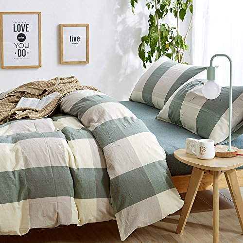 HIGHBUY 100 natura Washed Cotton Duvet Cover Sets