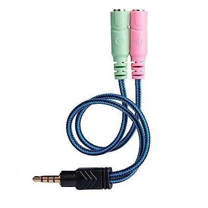 Adaptador de Cable Jack de 3,5 mm para Auriculares de PC, PS4,