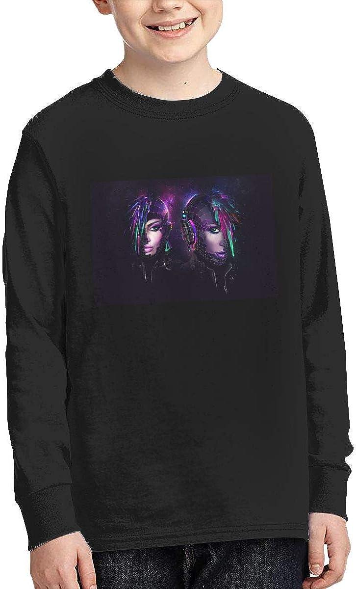 RhteGui Daft Punk Boys /& Girls Junior Vintage Long Sleeve T-Shirt Black