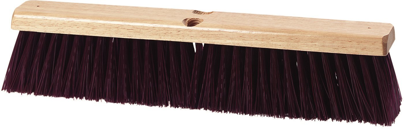 Carlisle 3621932400 Flo-Pac Crimped Sweep, 24''-Long Hardwood Block, 3-1/4''-Long Maroon Crimped Polypropylene Bristles (Case of 12)