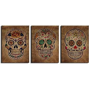 Amazon.com: wall26 Canvas Print Wall Art - Day of the Dead (Dia De ...