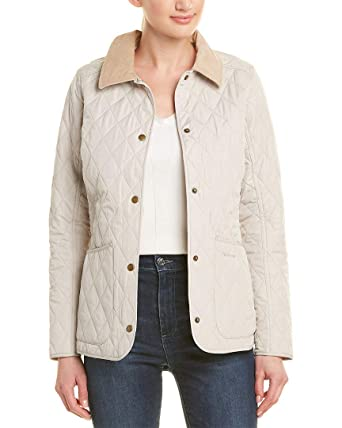 dba1dc047 Barbour Womens Spring Annandale Quilted Jacket, US 4 / UK 8, White ...
