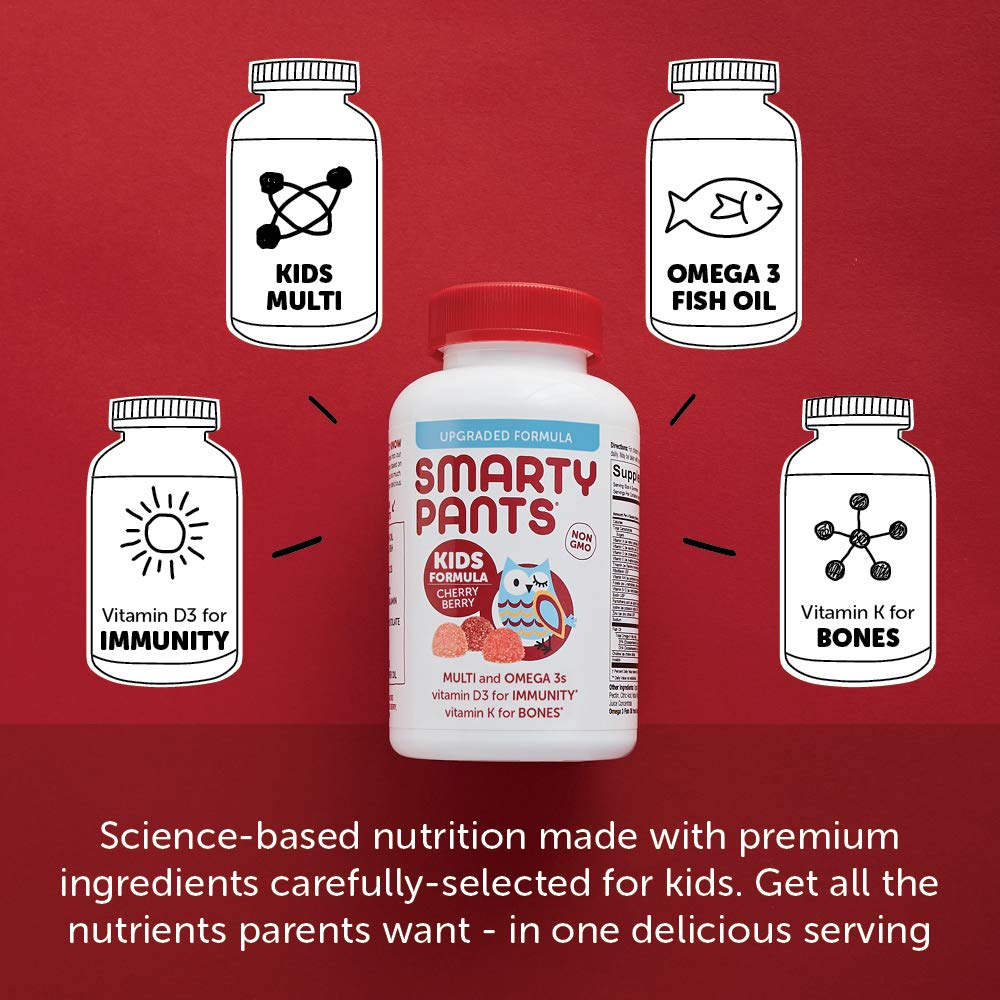 SmartyPants Kids Formula Cherry Berry Daily Gummy Vitamins ...