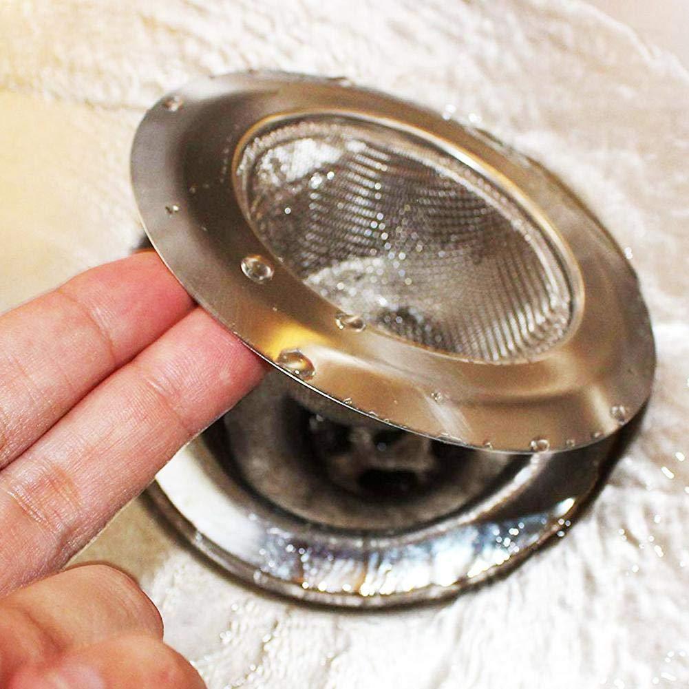 Luckybaby Filtro lavello in Acciaio Inossidabile da Cucina 5 Pezzi per lavelli da Cucina Filtro per lavello in Metallo lavelli da Bagno e scarichi a Pavimento