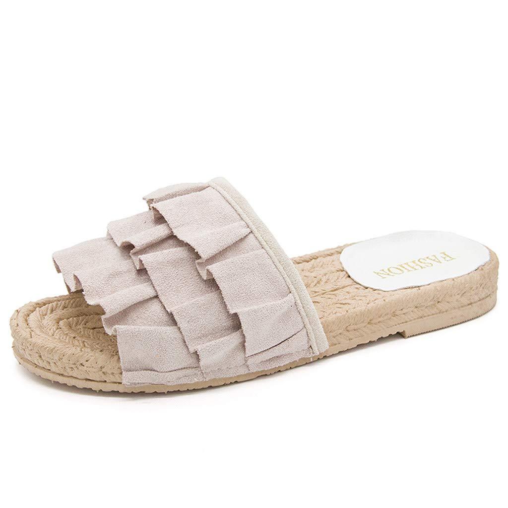 per Interni ed Esterni Scarpe estive Boho Clip Toe Flip Flop Pantofole da Donna estive Pantofole Pantofole con Fiore morbide e comode