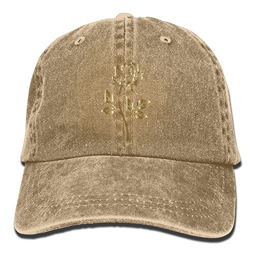 YUA85FSW Neutral Copper Rose Silhouette Hat Cotton Denim Fabric Hat Designed Cowboy Hat