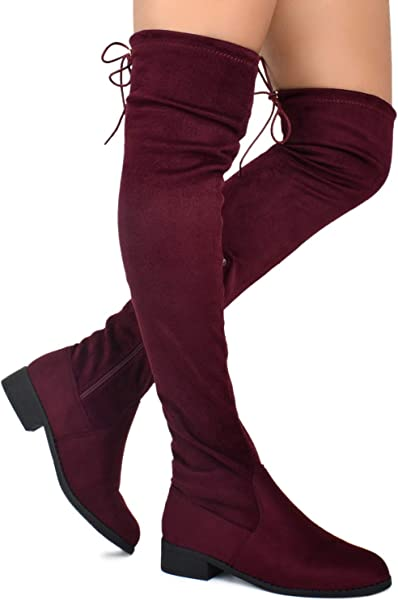 1559cd5d3c6a Over-the-Knee Premier Standard Womens Fashion Comfy Vegan Suede Side Zipper  Over Knee High Boots