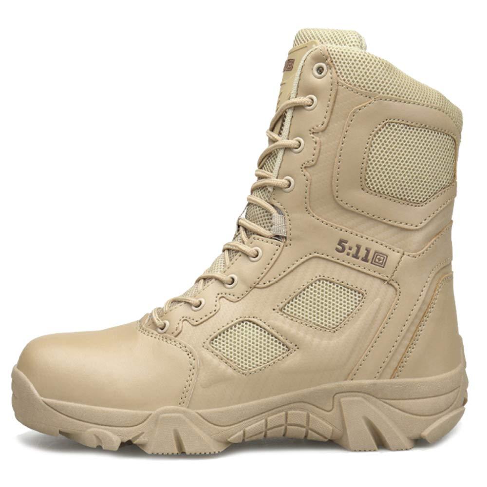 SHANHEYY 2029/5000 Bottes D'entraînement Haut Haut Hommes Armée Militaire Tactique Désert Combat Botte Cadet Sécurité Patrouille Chaussures Sécurité Police Chaussures NSZZXEHZH