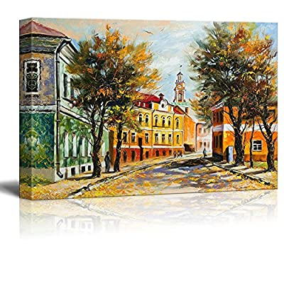 Canvas Prints Wall Art - Ancient Vitebsk in The Autumn - 24