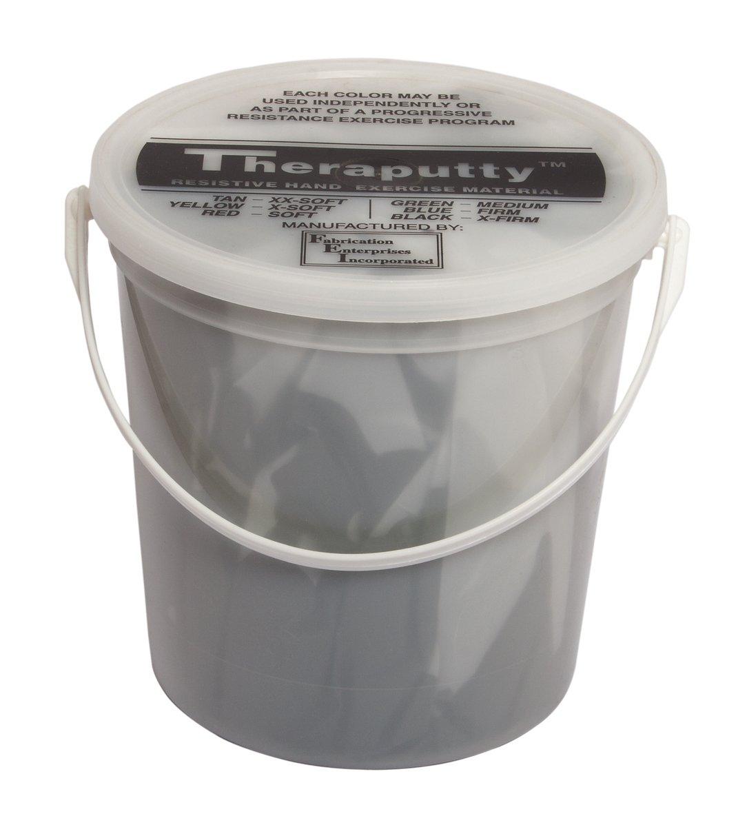 CanDo TheraPutty Plus Anti-microbial, Black: X-Firm, 5 lb