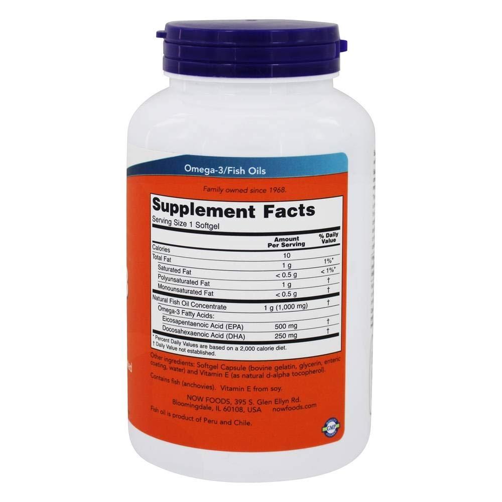 NOW Foods - Ultra Omega-3 500 DHA EPA/250 - 180 Cápsulas blandas: Amazon.es: Salud y cuidado personal