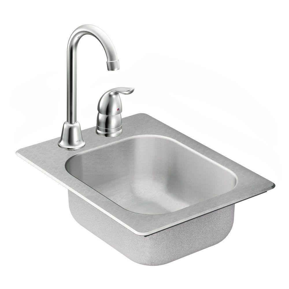 Lovely Moen TG2045522 2000 Series 20 Gauge Single Bowl Drop In Sink, Stainless  Steel   Bar Sink   Amazon.com