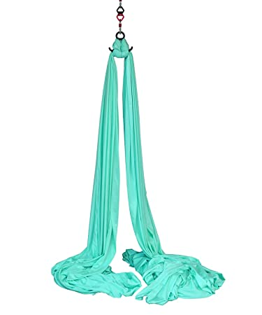 aerial silks equipment for acrobatic flying dance includes hardware fabric and guide  aqua amazon     aerial silks equipment for acrobatic flying dance      rh   amazon
