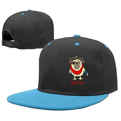 MostPopular Kids Pirate Pug Adjustable Hip Hop Baseball Hat Toddler Cap Custom Cap For Children