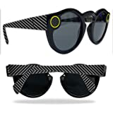 Skin For Snapchat Spectacles – Carbon Fiber | MightySkins Protective, Durable, and Unique Vinyl Decal wrap cover | Easy To Apply, Remove, and Change Styles | Made in the USA