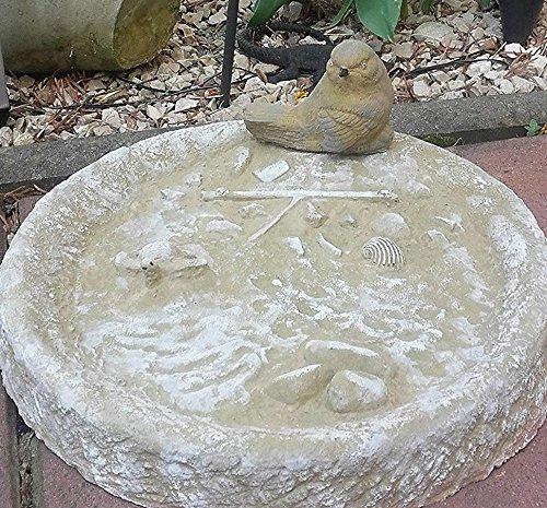 Vogeltränke Vogelbad Wasserstelle Vogelbecken Schildkröte ROT m Vogel frostfest
