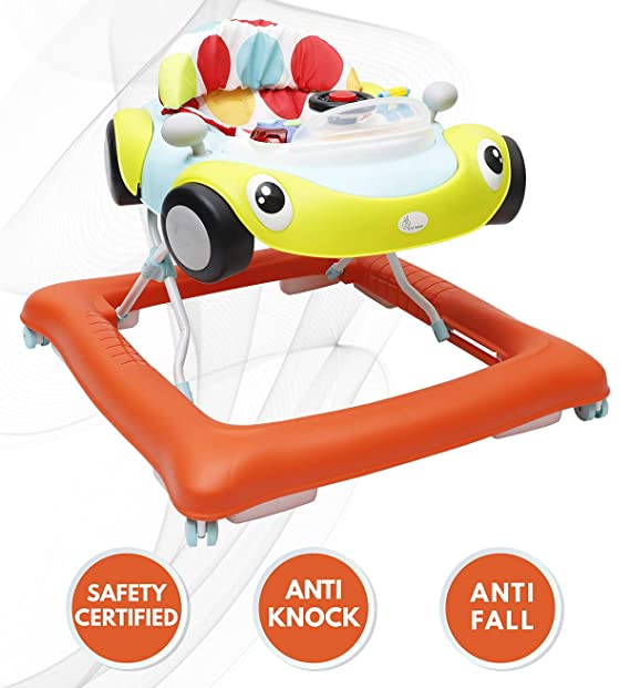 R for Rabbit F1 Racer - The Smart Car Shape Anti Fall Baby Walker with Adjustable Height and Music (Multi)