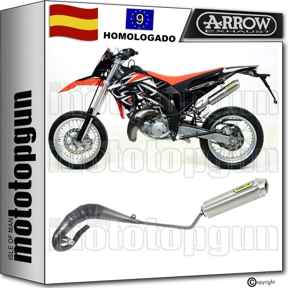 52602SU ESCAPE COMPLETO ARROW HOMOLOGADO MINI-THUNDER TITANIO APRILIA RX 125 2010 10 52036SU