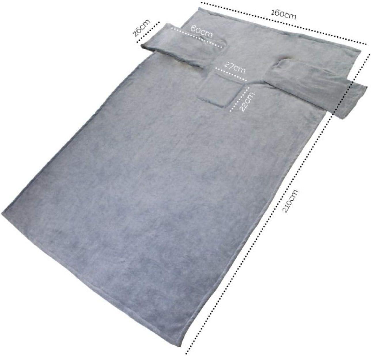 Vivezen /® Couverture polaire plaid int/égral avec manches et poche Norme CE 2 tailles 3 coloris
