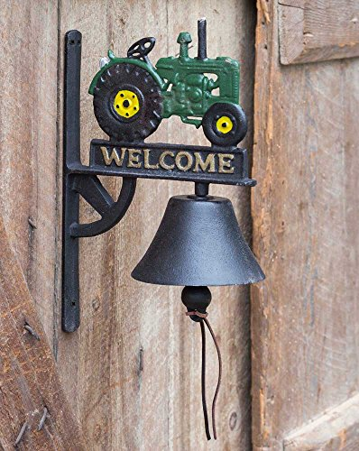 - Cast Iron Welcome Bell with Tractor