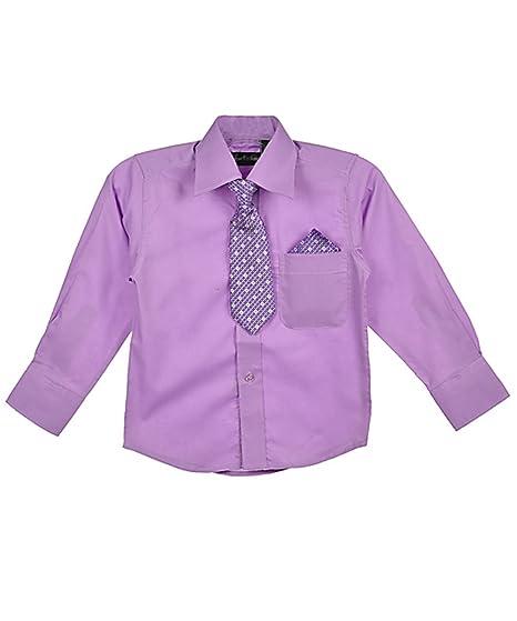 American Exchange - Camisa - para niño Morado lila: Amazon.es ...
