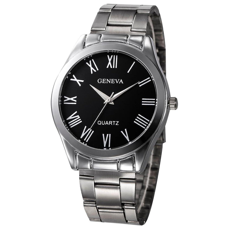 レディースクオーツ腕時計、Sinmaファッションシンプル腕時計ステンレススチールアナログRound Geneva用時計 B0713YL2G9 Gold