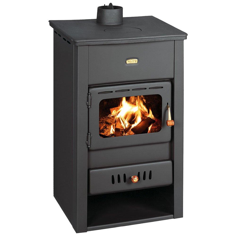 Caldera de leña estufa Prity, Modelo K2 CP W10, salida de calor 15 kW, hierro fundido placa superior: Amazon.es: Bricolaje y herramientas