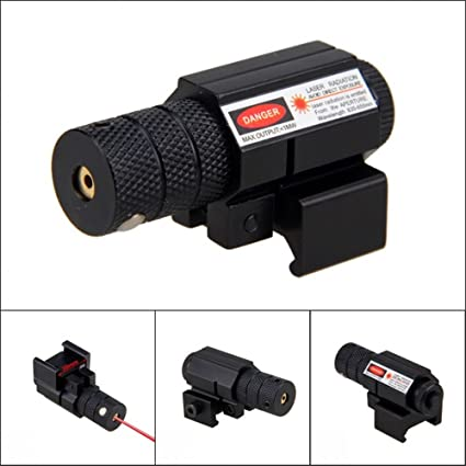 Hunting Tactical Red Laser Sight Airsoft Rail Mount Black Mini Scope Sports Tool