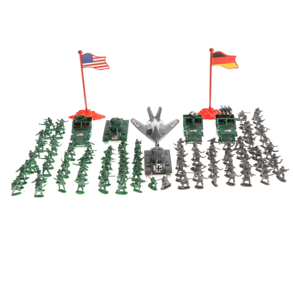 Sharplace 289pcs Soldat de l'Armée Militaire Modèle Figures Enfants Jouets Educatifs