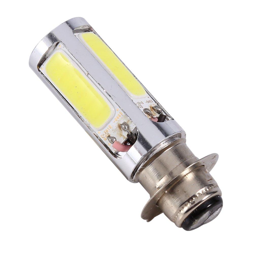 Keenso H6M COB Fog Light DC12V 20W Lamp Bulb PX15d P15D25-1 6000K for Motor Bike//ATV White 2pcs Super Bright LED Headlights