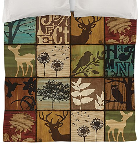 Manual Woodworker Weavers Duvet Cover, Queen/Full, Perfect Harmony