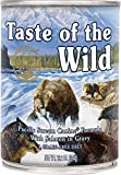 Taste of the Wild Pacific Stream Salmon in Gravy Wet Dog Food Cans 12 Pack 13.2 Ounce Ea. Fast Delivery Just Jak's Pet Market