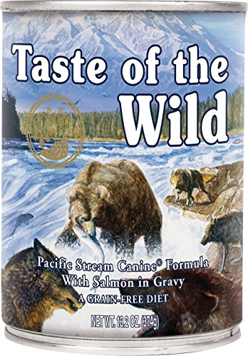 Taste of the Wild Pacific Stream Salmon in Gravy Wet Dog Food Cans 12 Pack 13.2 Ounce Ea. Fast Delivery Just Jak's Pet Market (Taste Of The Wild Pacific Stream Salmon)