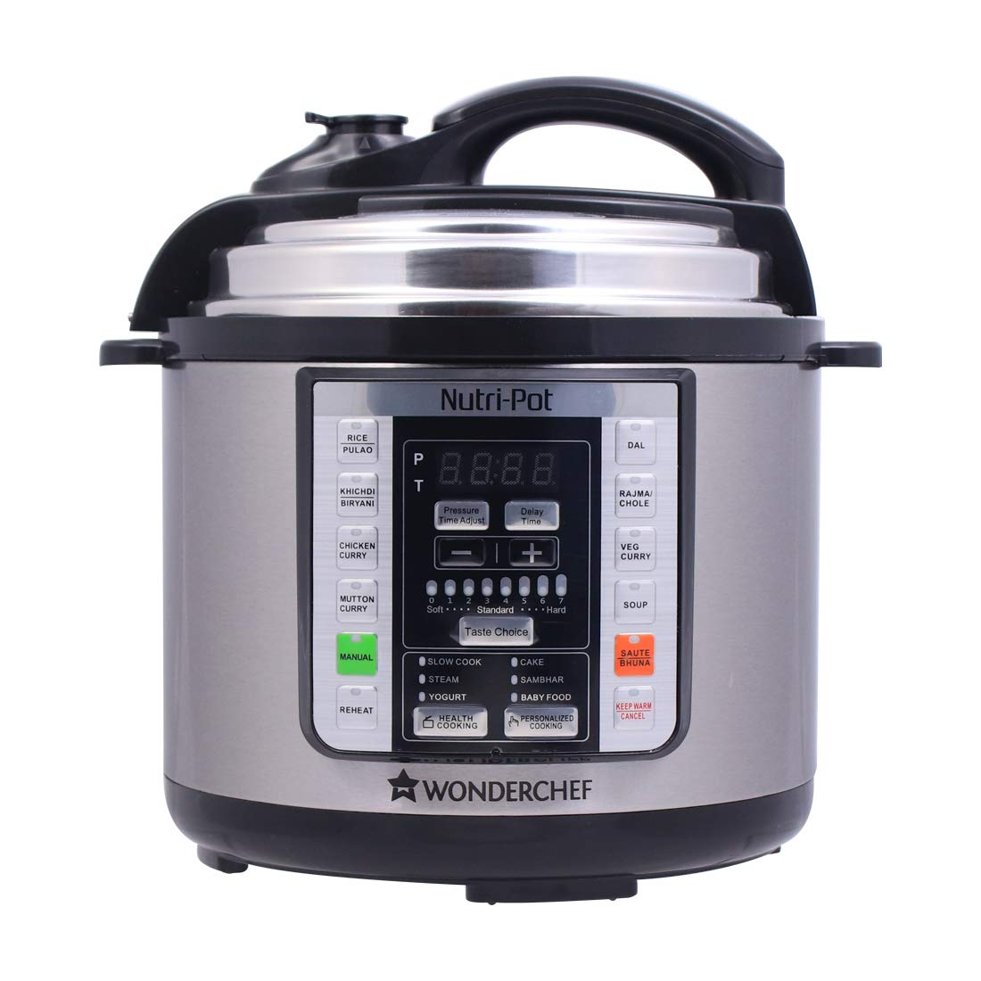 7. Wonderchef Nutri-Pot 3L 7 in 1 Programmable 18 preset Pressure Cooker