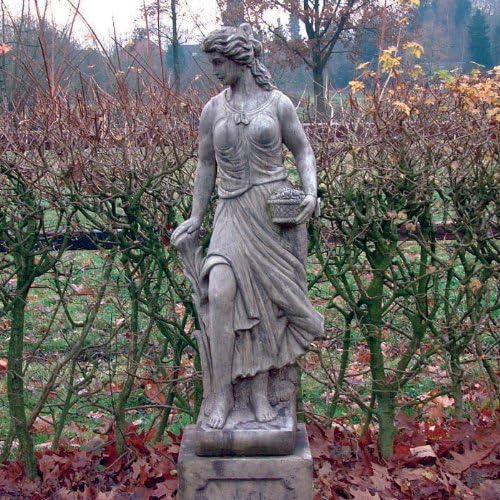 Estatuas de jardín SIRVIENTA primavera - grande de piedra Escultura: Amazon.es: Jardín