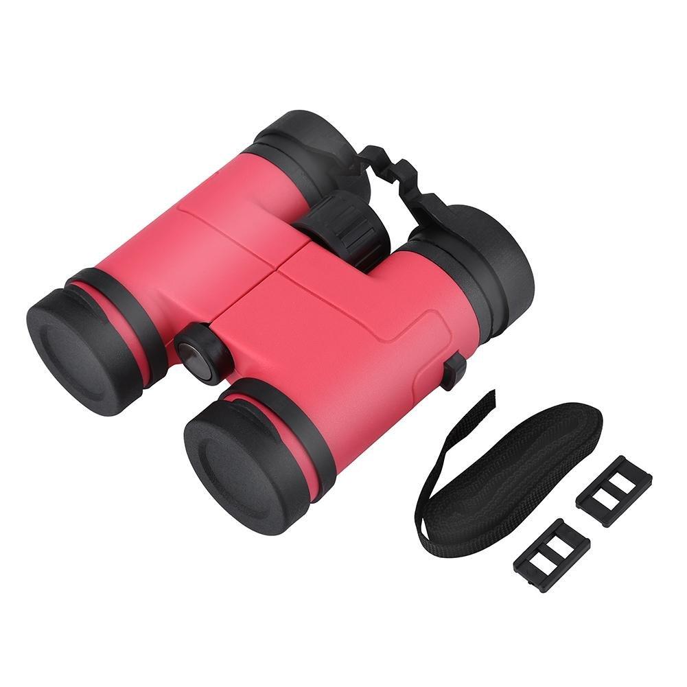 Kids Binocular Toy, 8X30 High Powered Bird Watching Binoculars for Children Gift(Pink)