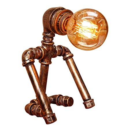 Vintage Edison Lámpara de mesa / escritorio Steampunk Lámpara de ...