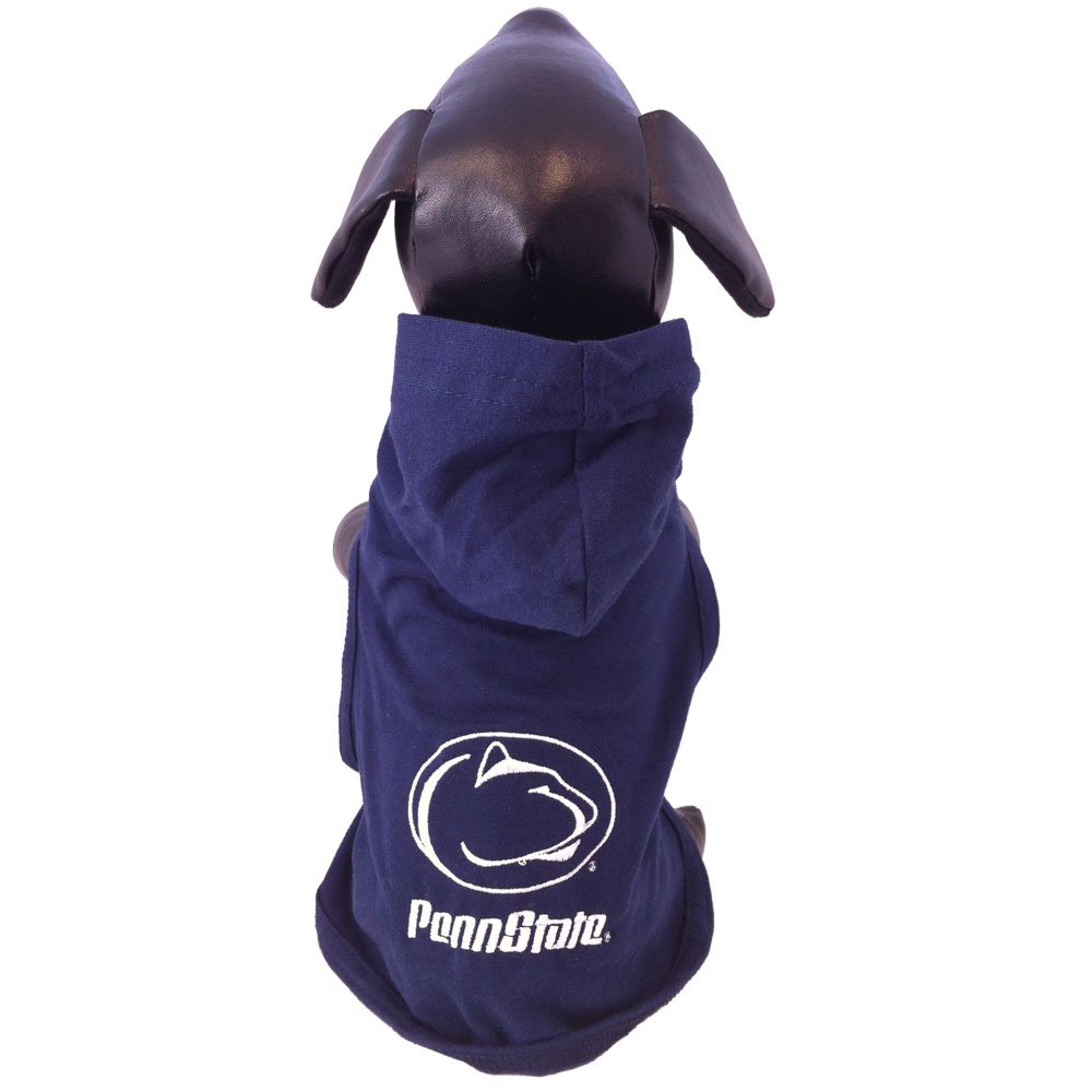 Tiny All Star Dogs Penn State Nittany Lions Cotton Lycra Hooded Dog Shirt, Tiny