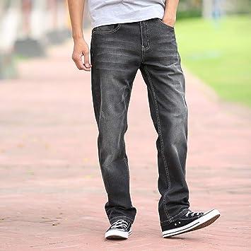 LJHA Vaqueros Jeans, Pantalones Vaqueros Negros y Grises ...