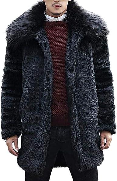 long manteau fourrure homme