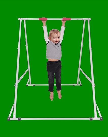 Amazon Com Home Workout Gymnastics Bar For Kids Height Adjustable