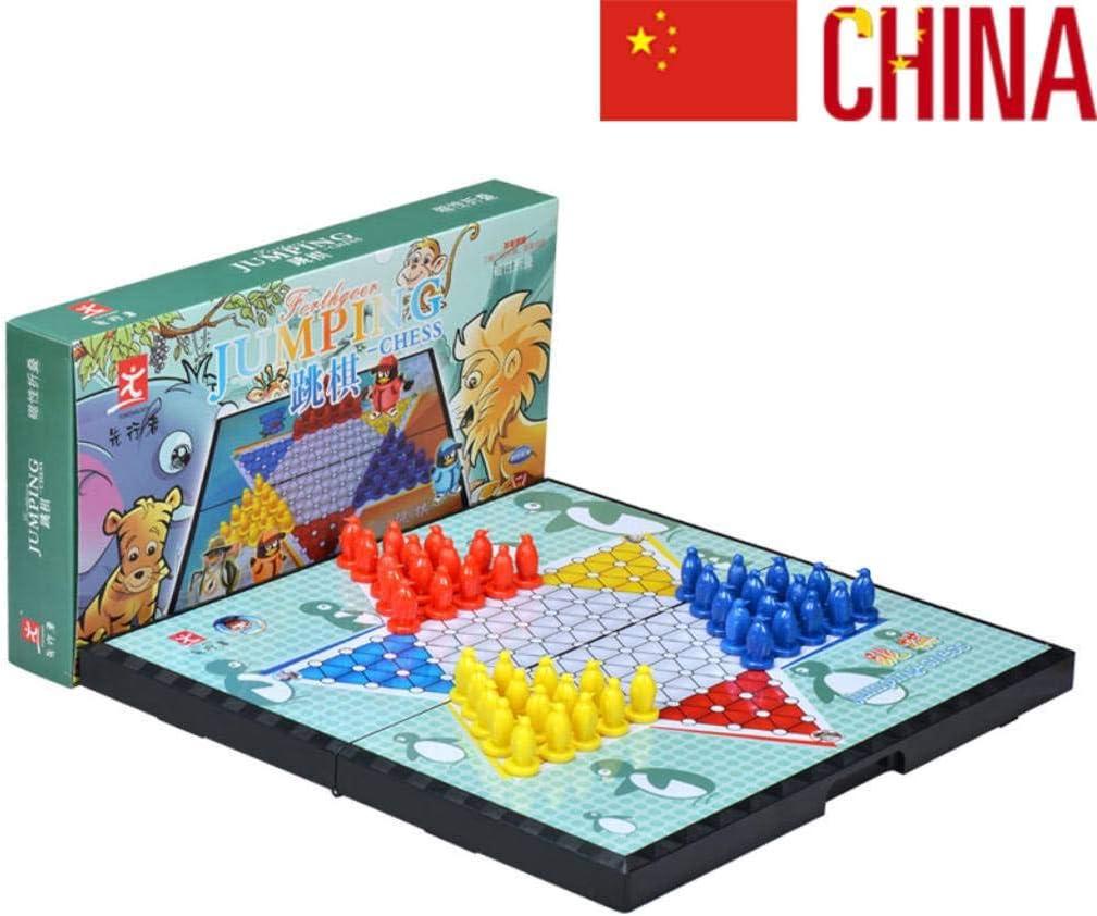 JinLiu Damas Chinas magnetico, Juego de Mesa Plegable tableropara 2 o más Jugadores (Importado) La Trompeta: Amazon.es: Hogar